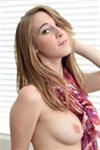 Cadence Lux rides a dildo in her cute red panties