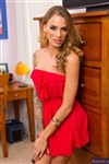 Juelz Ventura gets very naughty in her hot red dress